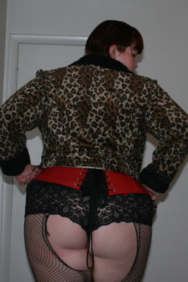 HNT Fabulous Leopard Coat Back View